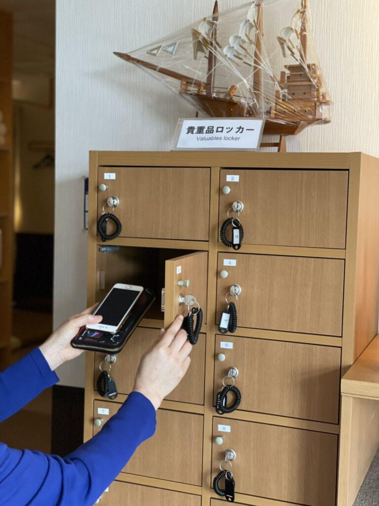 貴重品ロッカーです|茨城県鹿嶋市・神栖市「シャムの国」 マッサージファンに人気!